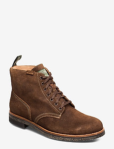Suede Army Boot - CHOCOLATE BROWN