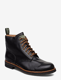 Leather Army Boot - BLACK