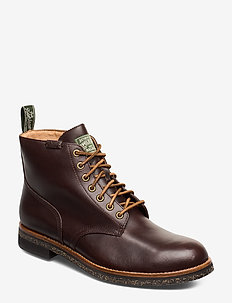 Leather Army Boot - POLO BROWN