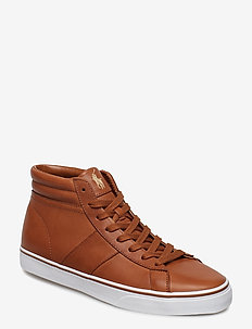 Shaw Calfskin High-Top Sneaker - POLO  TAN