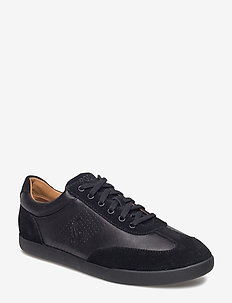 Cadoc Leather-Suede Sneaker - BLACK