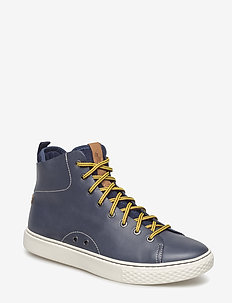 Dleaney Leather Sneaker - NEWPORT NAVY