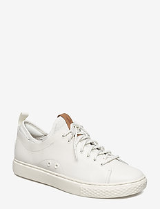 Dunovin Leather Sneaker - WHITE