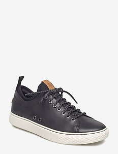Dunovin Leather Sneaker - BLACK
