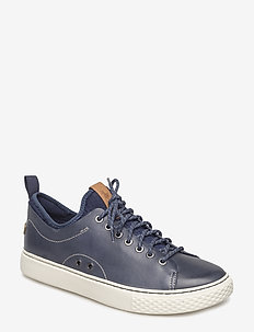 Dunovin Leather Sneaker - NEWPORT NAVY