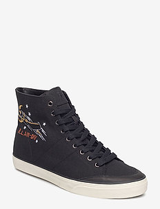 Solomon Canvas Sneaker - BLACK MULTI