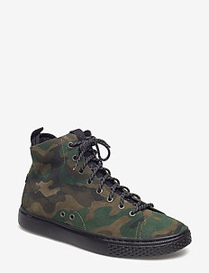 Dleaney Camo Suede Sneaker - OLIVE CAMO