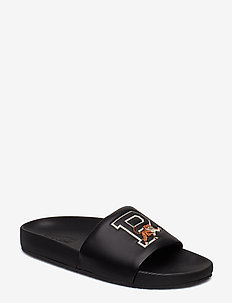 Cayson Tiger Pool Slide Sandal - BLACK