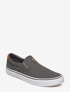 Thompson Washed Twill Sneaker - BLACK