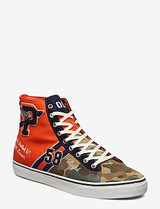 Solomon Suede & Canvas Sneaker - ORANGE MULTI
