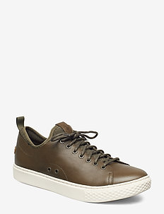 Dunovin Leather Sneaker - OLIVE NIGHT