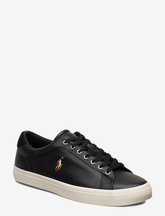 Longwood Leather Sneaker - BLACK