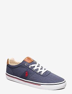 WASHED TWILL-HANFORD-NE - low tops - newport navy/red