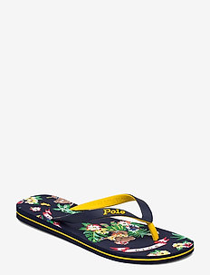 Bolt Polo Bear Tropical Flip-Flop - flip flops - bear-waiian print