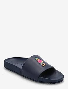 Cayson Polo Bear Slide Sandal - pool sliders - newport navy/beac