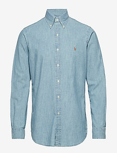Classic Fit Denim Sport Shirt - MEDIUM WASH