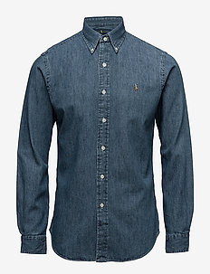 Slim Fit Chambray Shirt - DARK WASH