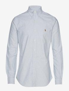Slim Fit Cotton Oxford Shirt - BSR BLU/WHT