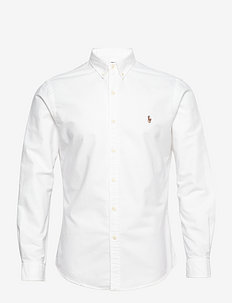 Slim Fit Cotton Oxford Shirt - basic skjortor - white