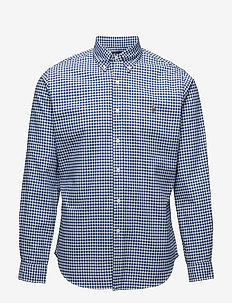 Slim Fit Cotton Oxford Shirt - rutede skjorter - blue/white ging