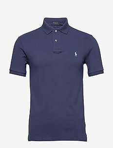 Slim Fit Mesh Polo Shirt - kortermede - boathouse navy/c7