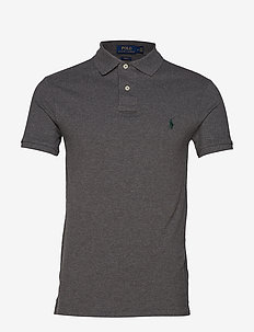Slim Fit Mesh Polo Shirt - polos à manches courtes - medium flannel he