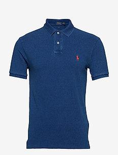 Slim Fit Mesh Polo Shirt - MEDIUM INDIGO