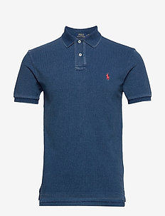 Slim Fit Mesh Polo Shirt - kurzärmelig - medium indigo/c38