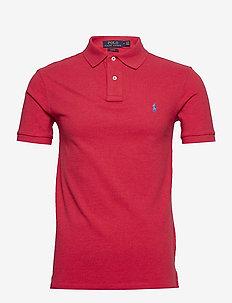 Slim Fit Mesh Polo Shirt - polos à manches courtes - rosette heather/c