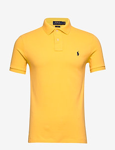 Slim Fit Mesh Polo Shirt - korte mouwen - yellowfin/c7315