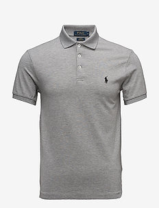 Slim Fit Stretch Mesh Polo - ANDOVER HTHR