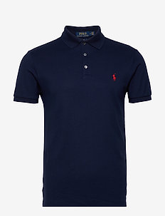 Slim Fit Stretch Mesh Polo - kortermede - french navy