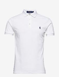 Slim Fit Stretch Mesh Polo - WHITE