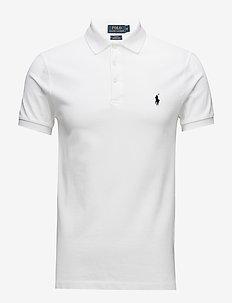 Slim Fit Stretch Mesh Polo - lyhythihaiset - white