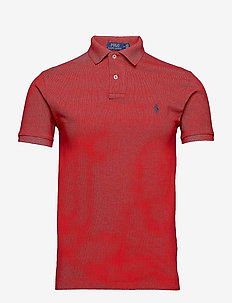 Slim Fit Mesh Polo Shirt - kortermede - rl2000 red