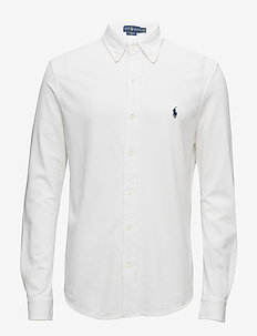 8fbfbaf187401 Custom Fit Featherweight Mesh Shirt - WHITE. Polo Ralph Lauren. Custom fit  featherweight mesh shirt ...