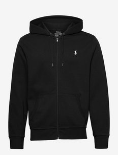 Double-Knit Full-Zip Hoodie - POLO BLACK
