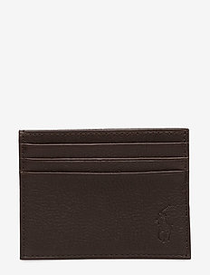 Leather Card Case - korthållare - brown