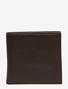 Leather Billfold Wallet - plånböcker - brown
