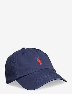 Cotton Chino Baseball Cap - caps - newport navy/red