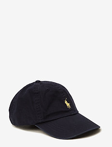 Cotton Chino Baseball Cap - caps - relay blue/yell