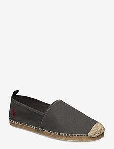 BARRON WASHED-TWILL ESPADRILLE - BLACK