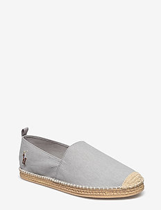 BARRON WASHED-TWILL ESPADRILLE - SOFT GREY