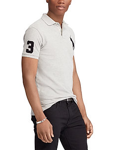 Slim-Fit Mesh Polo Shirt - short-sleeved polos - andover heather