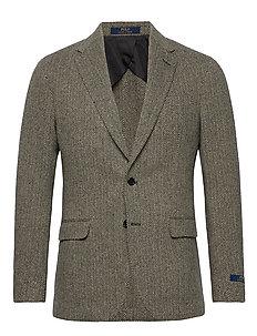 Soft Herringbone Sport Coat - enkelknäppta kavajer - black/cream