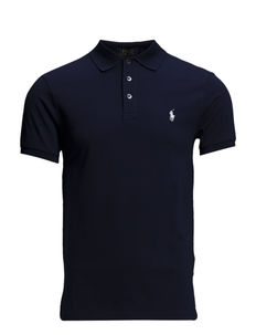 Slim Fit Stretch Mesh Polo - FRENCH NAVY