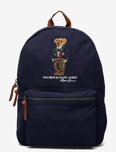 Polo Bear Canvas Backpack - sacs - navy