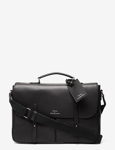 Leather Messenger Bag - sacs - black