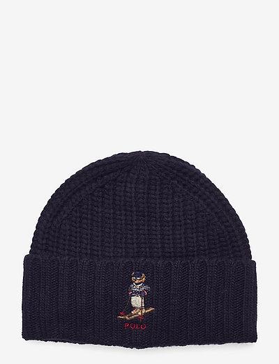 Polo Bear Ribbed Beanie - czapka - hunter navy