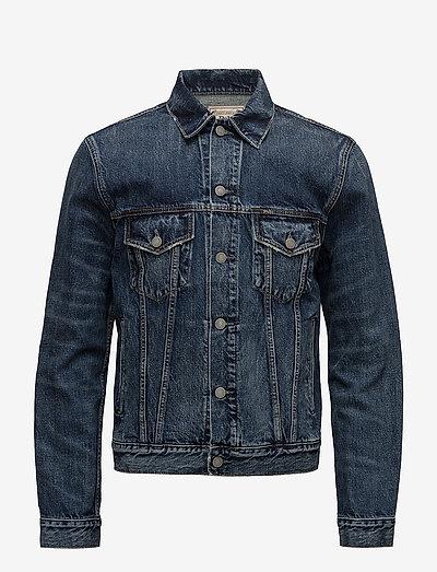 Faded Denim Trucker Jacket - denim jackets - trenton